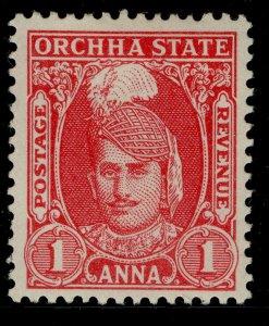 INDIAN STATES - Orchha GVI SG34, 1a scarlet, M MINT.