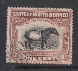 North Borneo 1909 Sc 136 Tapir 1c CTO