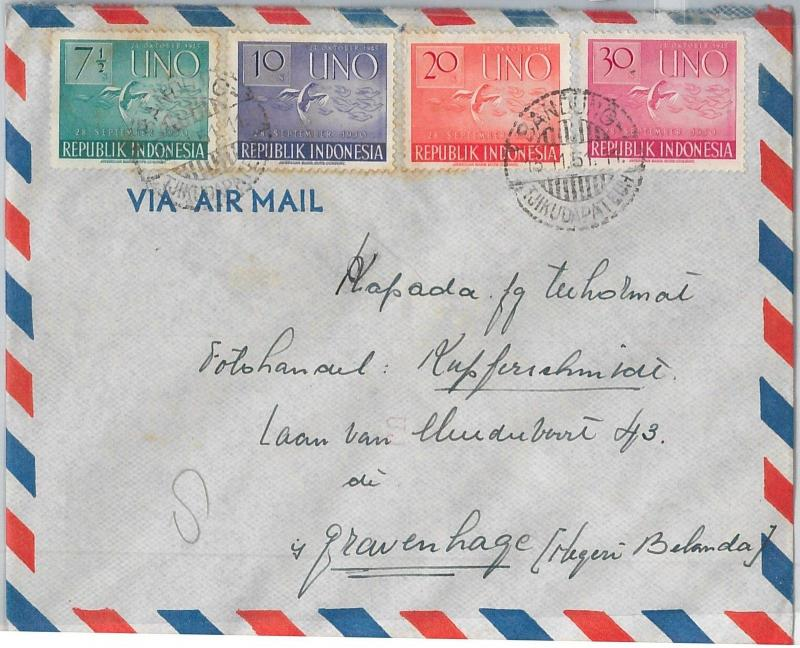 62354 -  INDONESIA - POSTAL HISTORY -   COVER to HOLLAND 1951