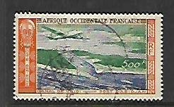 FRENCH WEST AFRICA, C16, USED, VRIDI CANAL, ABIDJAN