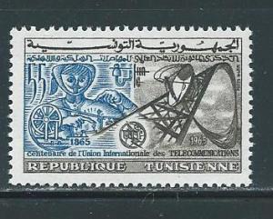 Tunisia 447 1965 100th ITU NH
