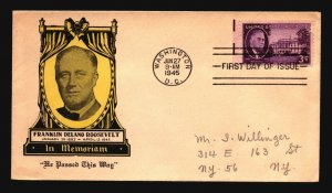US SC# 932 FDC / He Passed This Way Cachet - Z18531