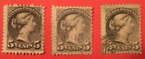 CANADA 5 USED QUEEN VICTORIA 5 CENT SMALL QUEENS