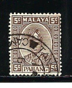 Malaya Pahang Stamps-Scott # 32/A7-5c-Canc/LH-1935-41-OG