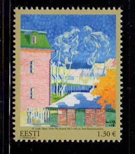 Estonia Sc 774 2014  Painting by Lukk stamp mint NH