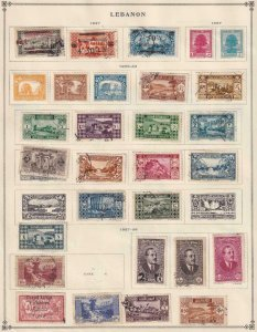 LEBANON NICE COLLECTION  FROM INTERNATIONAL ALBUM PART 1 1840 - 1940  Z264