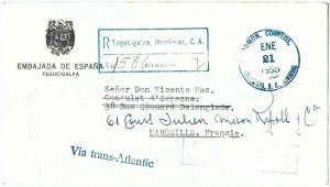 69286 - GUATEMALA - POSTAL HISTORY -  DIPLOMATIC  MAIL from SPANISH EMBASSY 1955