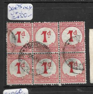 BECHUANALAND (P1801B) POSTAGE DUE 1D SG D5 BL OF 6  VFU