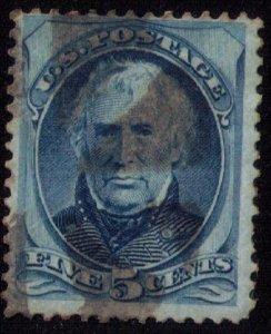 US Sc 179 Zachary Taylor Used Blue F-VF