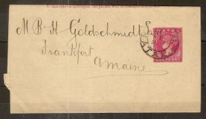 Natal 1891 1d Newspaper Wrapper