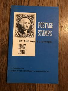 POSTAGE STAMPS of the UNITED STATES 1847-1960 By POD
