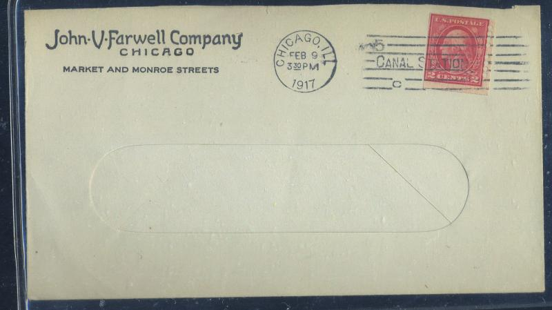 482 Used Farwell Co Type B 4/4 holes Fine on Cover Cat$1250