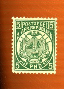 Transvaal #135 MINT Forgery F-VF NO GUM