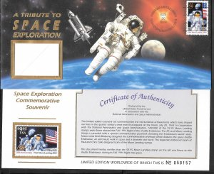 Just Fun Cover #2841,2842 MNH Tribute to Space Exploration (my5422)