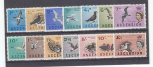ASCENSION ISLAND # 75-78 VF-MLH DIFFERENT TYPES OF BIRDS CAT VALUE $75.25