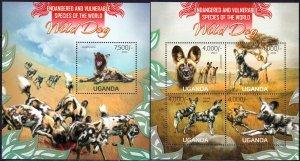 Uganda. 2013. Wild dogs. MNH.