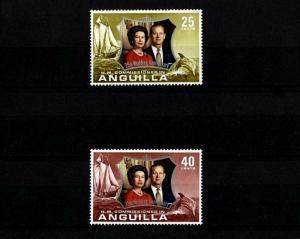 ANGUILLA - 1972 - QE II - SILVER WEDDING ISSUE - MINT - MNH - SET!