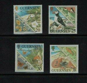 Guernsey: 1999, Europa,  Parks & Gardens, Herm island, MNH set