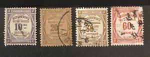 France 1908-25 #J47-9, 51, Used, CV $5.70