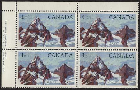Canada - 1984 $1 Glacier National Park Plate Block mint #934