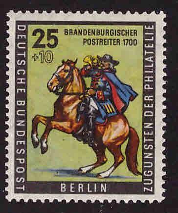 Germany Berlin Occupation Scott 9NB18 postrider on horse MNH**