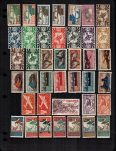 New Caledonia  37 Used and mint  hinged