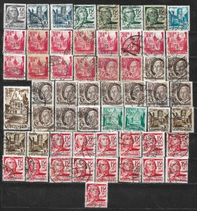 COLLECTION LOT OF 54 GERMANY  WURTTEMBERG 1947+ STAMPS CLEARANCE CV= $22