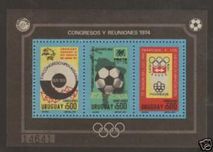 Uruguay Mi Bl 21A MNH. 1974 UPU Centenary souv sheet VF