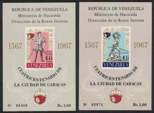 Venezuela 400th Anniversary of Caracas 2 MSs SG#MS2002 CV£90+