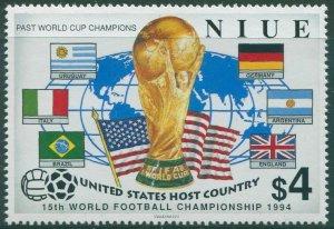 Niue 1994 SG779 $4 World Cup Football MNH