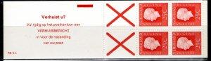 Netherlands Scott # 460a, mint nh, cpl. stamp booklet, variation, se-tenant