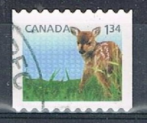 CANADA 16641 - 2013 $1.34 Baby Animals used booklet single