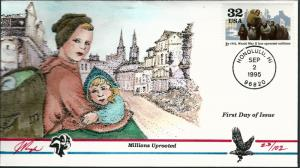 Beautiful Pugh Designed FDC WWII Millions Uprooted  #23 of 102