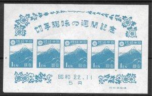 Doyle's_Stamps: MNH 1947 Japan Stamp Hobby Week Souv Sheet, Scott #395** NGAI
