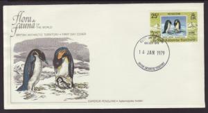 British Antarctic Territory 75 Penguin Fleetwood U/A FDC