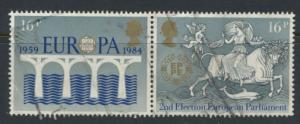 Great Britain SG 1249a - Used se-tentant pair - Europa