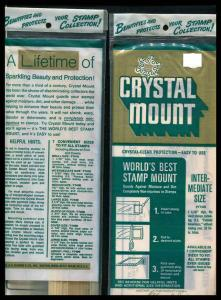CRYSTAL MOUNTS 2 Packages Intermediate Size New Sealed
