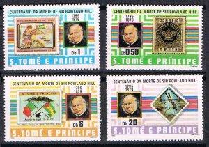 1980 Sao Tome and Principe 641-644 100 years of Rowland Hill 11,00 €