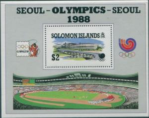 Solomon Islands 1988 SG635 Olympics MS MNH