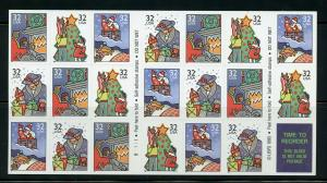 US SCOTT# 3112a CHRISTMAS COMPLETE UNEXPLODED BOOKLET OF 20 STAMPS MNH AS SHOWN