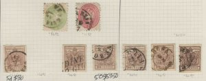AUSTRIA LOMBARDY COLLECTION LOT $258 MOST SOUND CANCELS MOUNTED