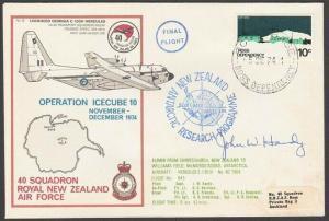 NEW ZEALAND ANTARCTIC 1978 RNZAF signed flight cover ex Scott Base.........27805