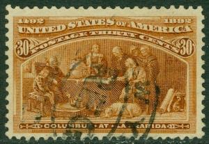 EDW1949SELL : USA 1893 Scott #239 Very Fine, Used. Light cancel. Catalog $90.00.