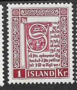 Doyle's_Stamps: Iceland 1953 Scott #278* to #282*  set cv $44