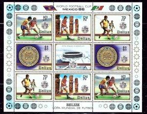 Belize 823-26 MNH 1986 Soccer sheet of 8    (ap2611)