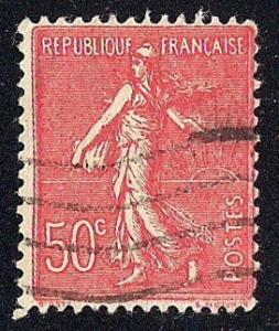 France #146 50C Sower, Vermon Stamp used F