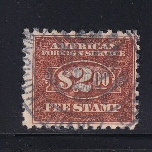 RK28 F-VF used consular revenue stamp with nice color cv $ 125 ! see pic !