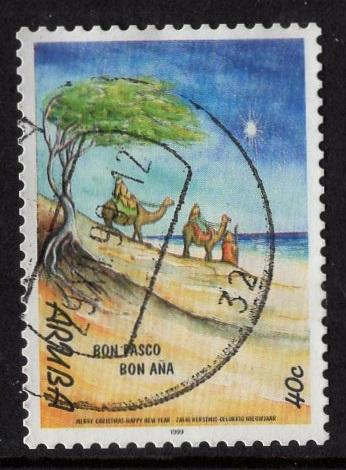 Aruba   #182  used  1999  Christmas  40c