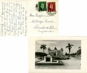 Trinidad Great Britain 1/2d and 1 1/2d KGVI 1955 Paquebot, Trinidad Hosking 2...