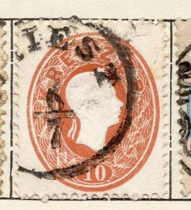 Austria 1861 Early Issue Fine Used 10kr. NW-11527